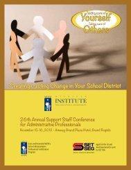 Brochure & registration form. - Michigan Institute for Educational ...