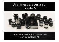 Fujifilm M-Mount adapter Istruzioni - Newoldcamera