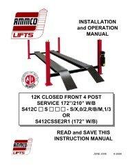 Ammco S412CS 12k Closed Front 4-Post - NY Tech Supply