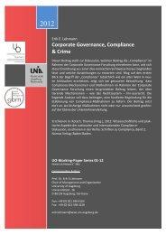 Corporate Governance, Compliance & Crime - WiWi - Universität ...