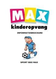 Info-folder BSO Sport MAX web-versie - Max  Kinderopvang