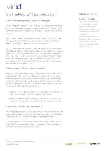 10 erros de email mkt.indd - Blog de Email Marketing
