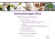 Hochzeitsmappe 2012 Wir kümmern uns um Ihre Traumhochzeit….