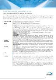 Factsheet Maximus Medium Flex Bond - fairvesta Europe II AG