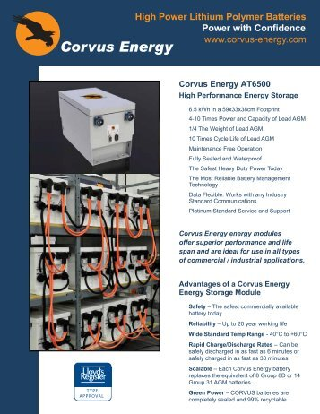 Corvus Energy AT6500