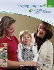 Keeping people well - Memorial Health Center