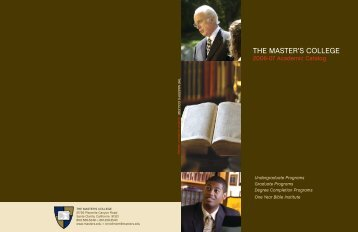 2006-07 - The Master's College