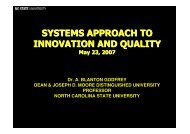 Systems Approach to Innovation and Quality - Blanton Godfrey - EOQ