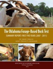 Oklahoma Forage-Based Buck Test Summary Report - Kerr Center