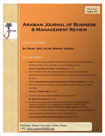 1. Vol 1 - Arabian Journal of Business & Management Review