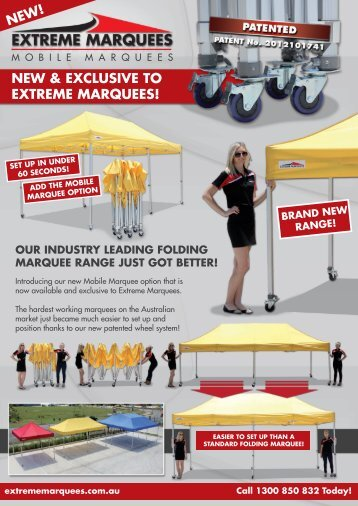 NEW & EXCLUSIVE TO EXTREME MARQUEES!