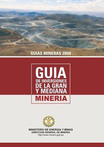Guía: El Inversionista Minero - Ministerio de Energía y Minas