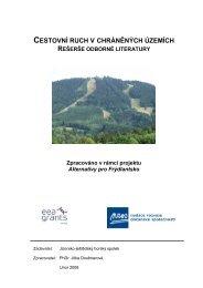 cestovní ruch v chráněných územích - Jizersko-ještědský horský ...