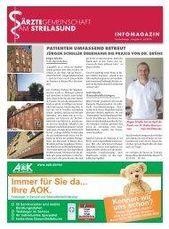 """INFO MAG A ZIN - Ã""""rztegemeinschaft am Strelasund"""