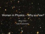 Women in Science: Why so Few?