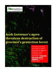 Aceh Governor's move threatens destruction of province's protection ...