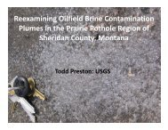 Reexamining Oilfield Brine Contamination Plumes in the Prairie ...