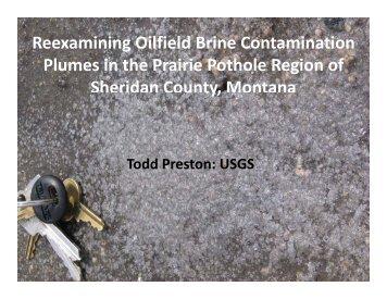 Reexamining Oilfield Brine Contamination Plumes in the Prairie ...