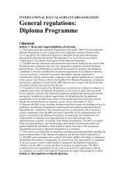 General regulations - St. John's International School