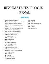 REZUMATE FIZIOLOGIE - RENAL - OvidiusMD