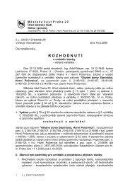 Rozhodnutí - Obytné domy Studnická - Horní Počernice