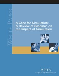 A Case for Simulation - BTS