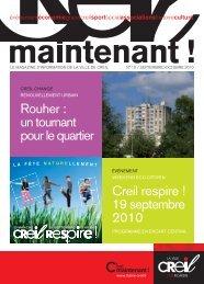 Magazine Creil Maintenant n°10 septembre>octobre ... - Ville de Creil