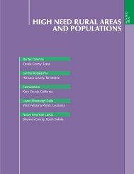 HIGH NEED RURAL AREAS AND POPULATIONS