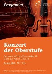 Konzert - Widar Schule