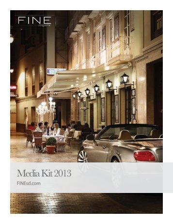 Media Kit 2013 - FINE Magazine