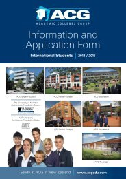 ACG International Student Application Form - The Academic ...