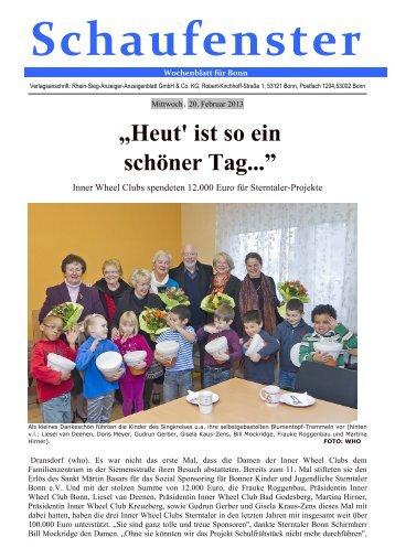 """""""Heut' ist so ein schöner Tag..."""" - Sterntaler Bonn eV"""