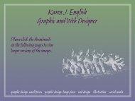 Karen J. English Graphic and Web Designer - New York State ...