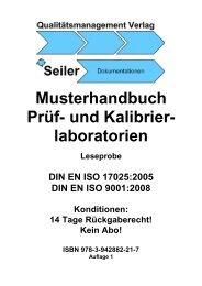 Musterhandbuch Prüf- und Kalibrier- laboratorien