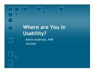 Where are You in Usability? - PNSQC