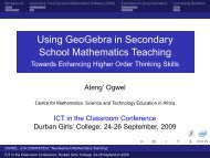Using GeoGebra in Secondary School Mathematics Teaching ...