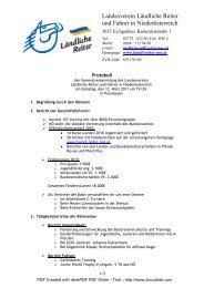protokoll gv 2011 - Ländliche Reiter und Fahrer in Niederösterreich