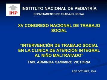 Diapositiva 1 - Instituto Nacional de Pediatría