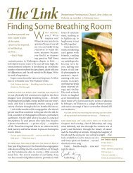 Finding Some Breathing Room - Westminster Presbyterian Church