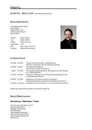 Profil Daniel Müller - informatikberatung Renner