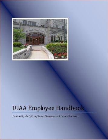 IUAA Employee Handbook - Indiana University Alumni Association