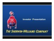 Investor Presentation - Sherwin Williams