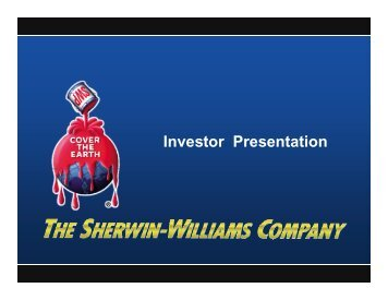 Investor Presentation - Sherwin Williams