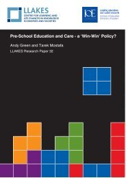 Pre-School Education and Care - a 'Win-Win' Policy? - llakes