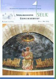 Gemeindebrief für April und Mai 2013 - Dreieinigkeitsgemeinde ...