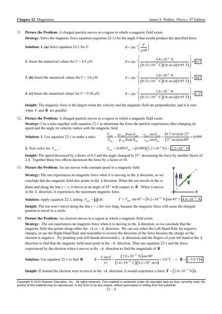 Chapter 22 Magnetism James S Walker Physics 4th Edition