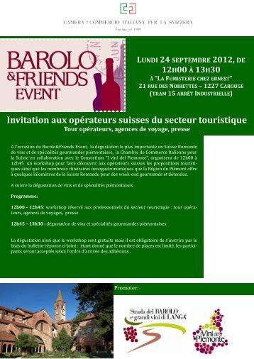 INVITATION TOURISME (pdf) - Camera di Commercio Italiana per la ...
