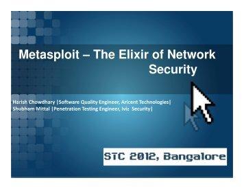 Metasploit – The Elixir of Network Security - QAI