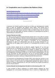 A- Coopération avec le système des Nations Unies - Département ...