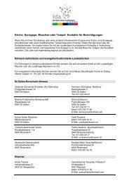 Kirche, Synagoge, Moschee oder Tempel: Kontakte für ... - IDA